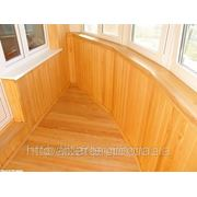 Монтаж деревянной вагонки на балконе, цены фото