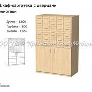 Шкаф-картотека с дверцами для библиотеки 24029