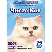 Минеральный наполнитель для кошачьих туалетов Чисто Кот фото