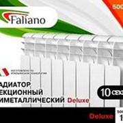 Радиатор биметаллический FALIANO Bi.Delux 500*80*80мм (6 секций) фото