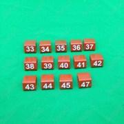 Указатели размеров для полок (взрослые), красные, В-170-Вз фото