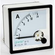 Амперметр 10А стрелочный TENSE щитовой прямого включения переменного тока 72х72 цена фото