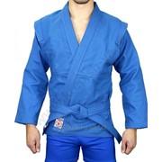 Куртка для самбо Крепыш синяя фото