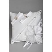 Подушка для колец №02, белый фото