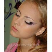 Свадебный, вечерний макияж с узорами фото