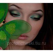 """Свадебный, вечерний макияж """"Сочная зелень"""" фото"""