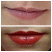 Татуаж губ полное заполнение фото