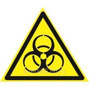 Знак «Осторожно. Биологическая опасность» фото