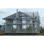 Каркас дома металлический из ЛСТК фото