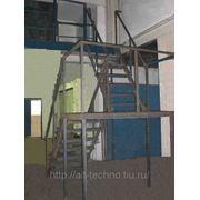 Изготовление металлоконструкций лестниц и площадок фото