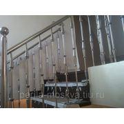 Перила из нержавеющей стали (нержавейки) для лестниц фото