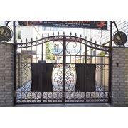 Ворота ,с декоративными глобусами № 17 фото