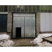 Гаражные ворота цена договорная (свариваются из уголка 70х70 толщина листа по договорённости с заказчиком) фото