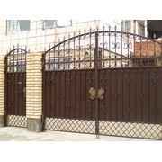 Ворота боярские с накладками №3 фото