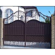 Кованые ворота № 15 фото