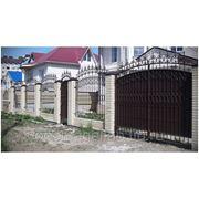 Ворота кованые № 24 фото