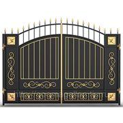 Кованые ворота № 4 - бюджетная модель.