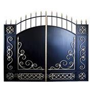 Кованые ворота № 7 - бюджетная модель. фото