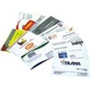 Печать лакированных визиток