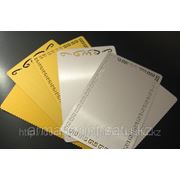 Изготовление металлических визиток (золото, серебро) фото