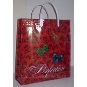 Пакет с пластмассовыми ручками Розы большие 5/10 фото