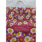 Пакет с пластмассовыми ручками (40х44+10) Цветник 10/10 фото