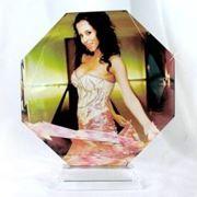 Фото в кристалле Восьмиугольник 100 мм фото