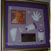 Слепочки ручек и ножек малышей фото