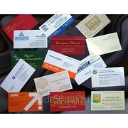 Шелкография (визитки, открытки, папки) фото