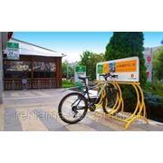 Реклама на велопарковках фото