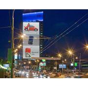 Рекламный щит. Светодиодная сетка медиа фасада 28х36м фото