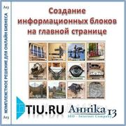 Создание информационных блоков на главной странице для сайта на tiu.ru фото