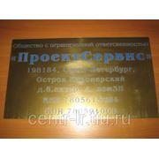 Табличка информационная, 300*400*1,5 мм фото