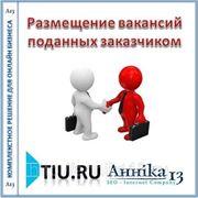 Размещение вакансий поданных заказчиком для сайта на tiu.ru