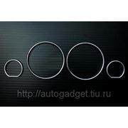 Кольца в приборную панель BMW E34 пластик (серебро) фото