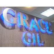 Вывески с подсветкой (светодиодные технологии), светящиеся объемные буквы фото