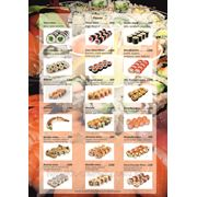 Меню для суши-бара фото