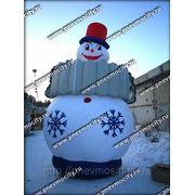 Надувная новогодняя фигура. Снеговик