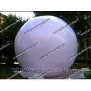 Рекламный шар: аэростат газовый белый фото