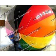 Рекламный шар: аэростат газовый полосатый_радуга фото