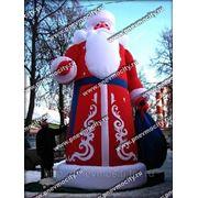Надувная новогодняя фигура. Дед Мороз. Высота 6 метров фото