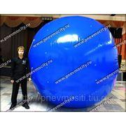 Рекламный шар: аэростат газовый синий фото