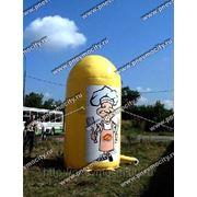 Пневмо конструкция: тумба рекламная фото