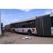 Частичное брендирование автобуса фото