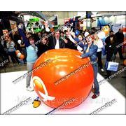 Рекламный шар: аэростат газовый оранжевый фото