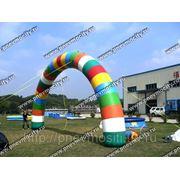 Надувная арка круглая цветная. фото