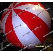 Рекламный шар: аэростат газовый полосатый фото