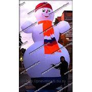 Надувная новогодняя фигура. Снеговик стилизованный