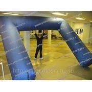 Надувная арка синяя фото
