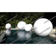Рекламный шар: белый дизайнерский шар фото